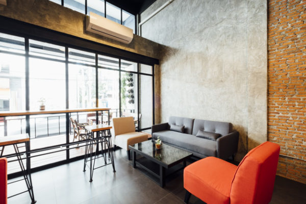cafe and living room loft style